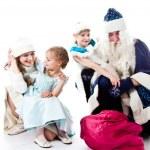 Visit Santa Claus — Stock Photo #13030319