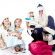 Visit Santa Claus — Stock Photo #13030326
