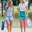 Two girls walking in the park — Stock Photo #13514338