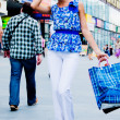 Woman with shopping — Stock Photo