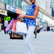 Woman with shopping — 图库照片