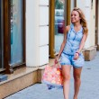 Woman with shopping - Photo