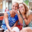 Stock Photo: Two women in a shopping center