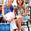 Two women in a shopping center — Stock Photo #14574965