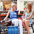 Two women in a shopping center — Stock Photo #14575305