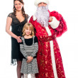 Santa Claus and a mother and daughter — Stock Photo #16218317