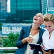 Two business women discussing project — Stock Photo #16218303