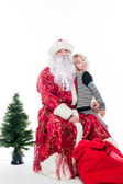 Santa Claus and little girl — Stock Photo