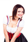 Woman in traditional Bavarian dress — Stock Photo
