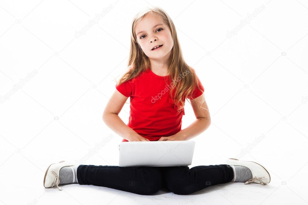 Small and beautiful business girl — Stock Photo #18636877