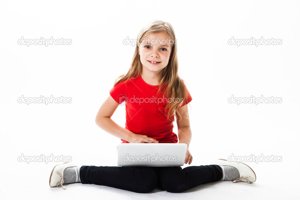 Small and beautiful business girl  Stock Photo #18636881
