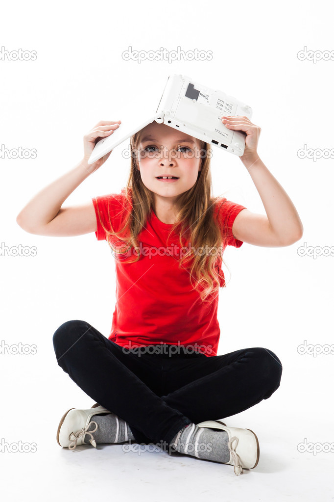 Small and beautiful business girl — Stock Photo #18636891