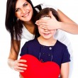 Royalty-Free Stock Photo: Mom gives daughter heart