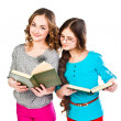 Royalty-Free Stock Photo: Two girls read books
