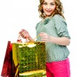 Foto de Stock  : Girl with shopping