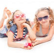 Stock Photo: Two girls in bathing suits
