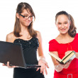 Two students — Stock Photo
