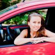 Woman in the car — Stock Photo #37047507