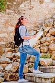 女人旅游 — 图库照片