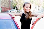 Mujer en el coche — Foto de Stock