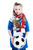 Dziewczyna z piłki nożnej — Zdjęcie stockowe