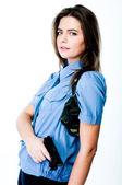 Mujer en uniforme de policía — Foto de Stock