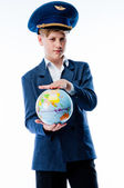 Boy traveler — Stock Photo