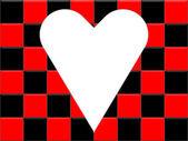 Spela kort kostym - hjärtan — Stockfoto