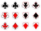 Die Spielkarte-Anzüge — Stockfoto