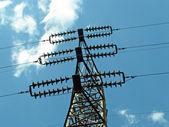 La ligne d'énergie électrique — Photo