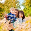 Autumn family portrait — Stock Photo