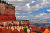 Red Sandstone Canyon cliffs at Bryce Canyon. — Stock Photo