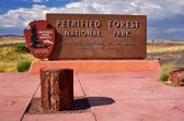 Petrified Forest National Park Entrance — Stock Photo