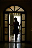 Silhouette of a girl — Stock Photo