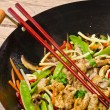Stock Photo: Wok frying pan