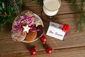 Cookies for santa — Stock Photo