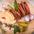 Frankfurterki world to known and beloved thin small sausages — Stock Photo #14783939
