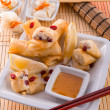Sweet spring rolls - Stock Photo
