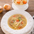 Noodle soup with beef broth — Stock Photo #19383383