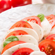 Stock Photo: Tomato with mozzarellcheese