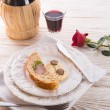 Pork fillet in the bread brown — Stock fotografie