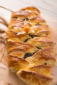 Poppy - marzipan plaited loaf — Stock Photo
