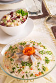 Vegetables - herring salad — Stock Photo