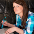 Woman with laptop — Stock Photo #19873833