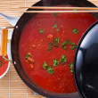 Canton tomato soup — Stock Photo