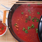 Chinese tomato soup — Stock Photo