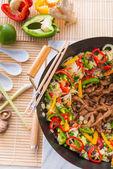 Wok frying pan — Stock Photo