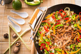 Wok frying pan — Foto Stock