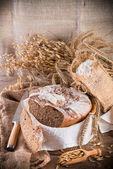 Freshly baked traditional bread — Stock Photo