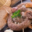 Home-baked sausage — Stock Photo